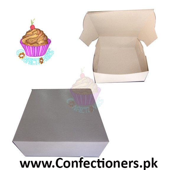 "10"" Cake Box Dull White"