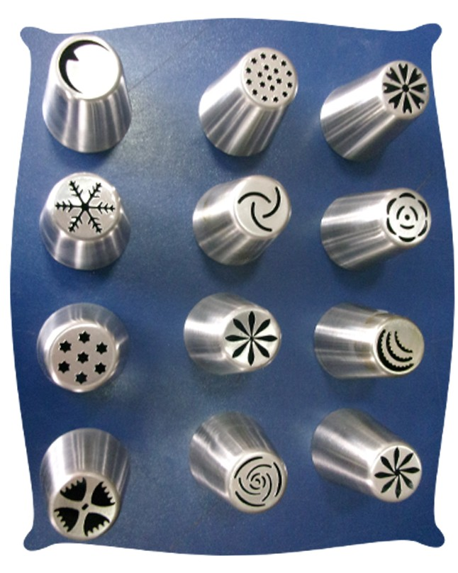 Large Russian Icing Nozzles 12 piece Set