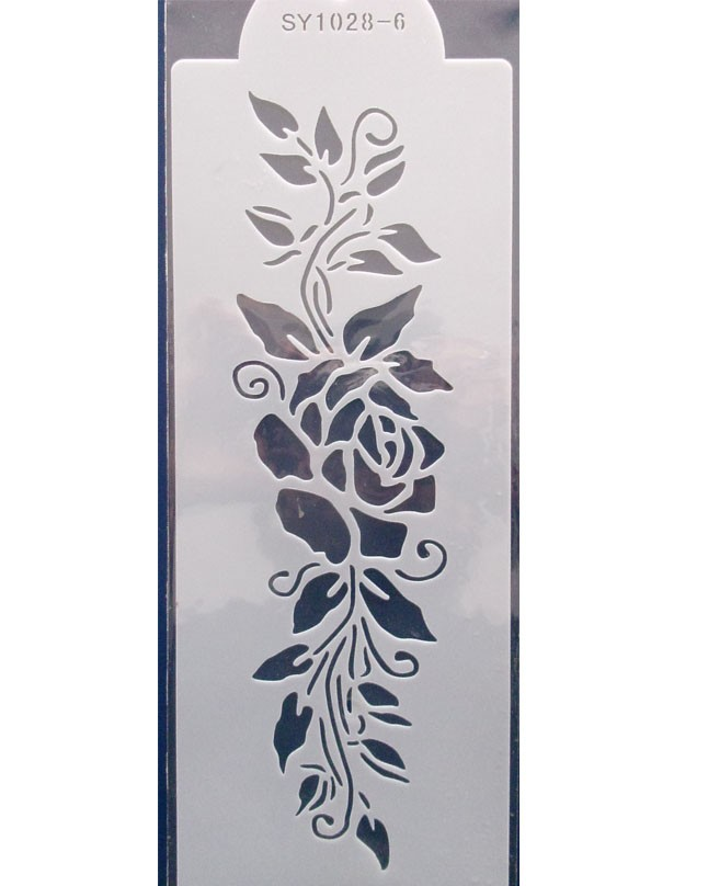 Floral Leaves Boarder Cake Stencil