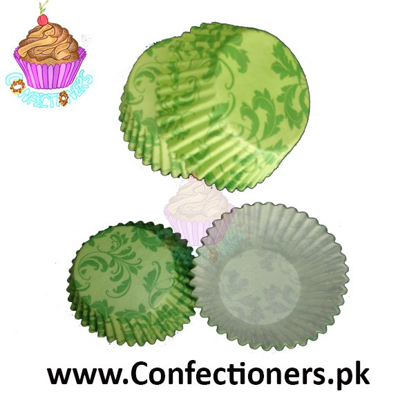 2 inch leaf green Cupcake Liners 100pc