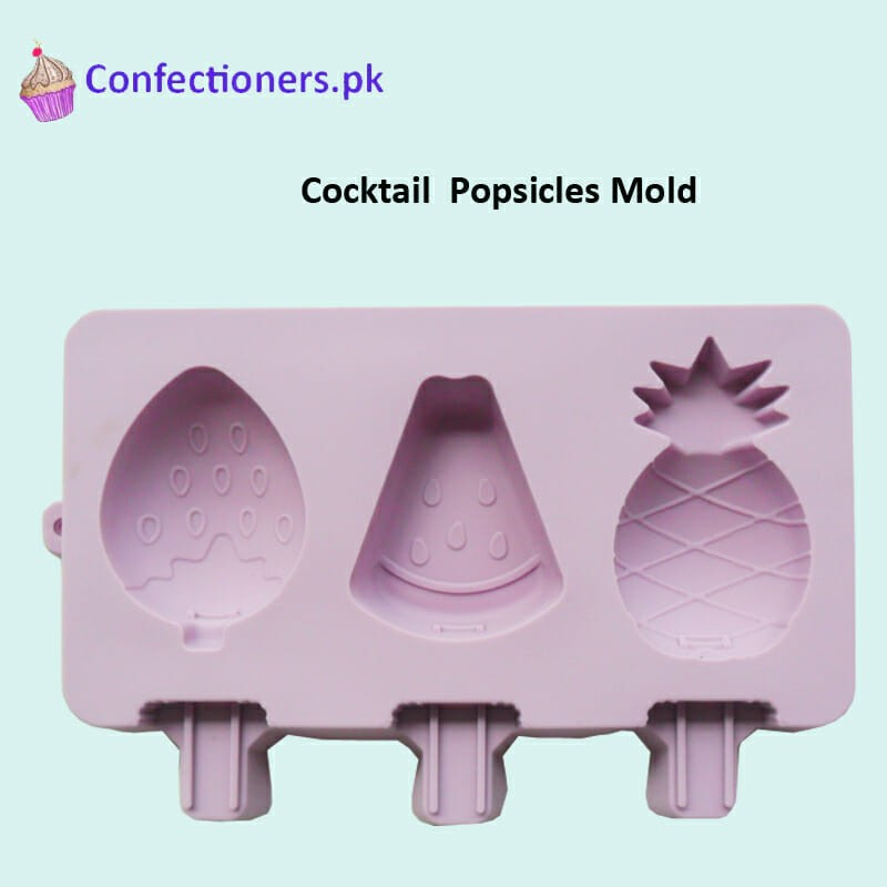 SM319 - Silicon Cocktail Cakesicles Popsicles Mold 3 Cavity