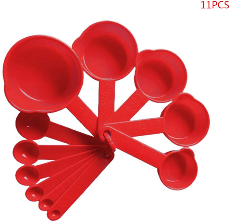 BT037 - 11pcs Red Measuring Cups & Spoon Set