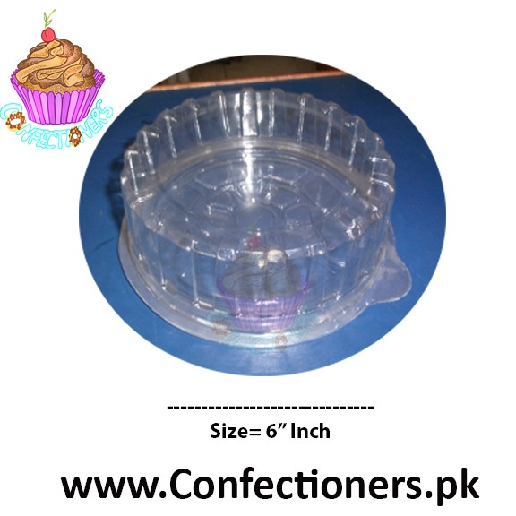 "6"" Round Transparent Cake Box Cake Container"