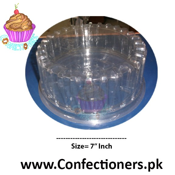 "7"" Round Transparent Cake Box Cake Container"