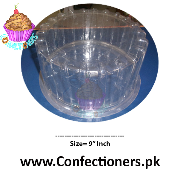 "9"" Round Transparent Cake Box Cake Container"