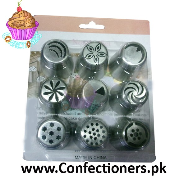 Large Russian Icing Nozzles 9 piece Set