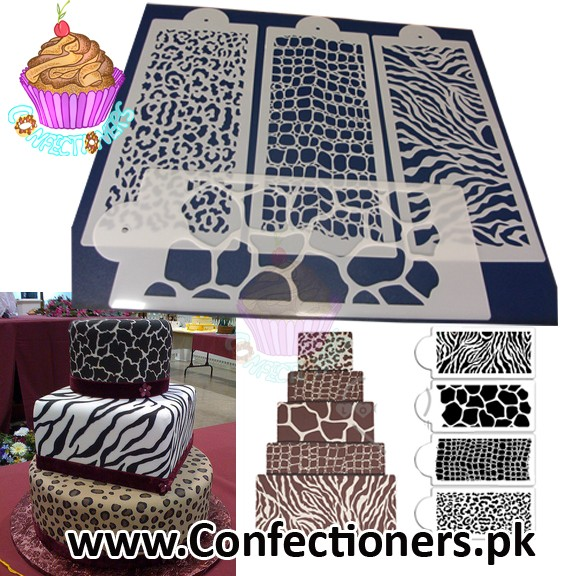 ST-356 - Animal Skin Print Stencil Set of 4 pcs