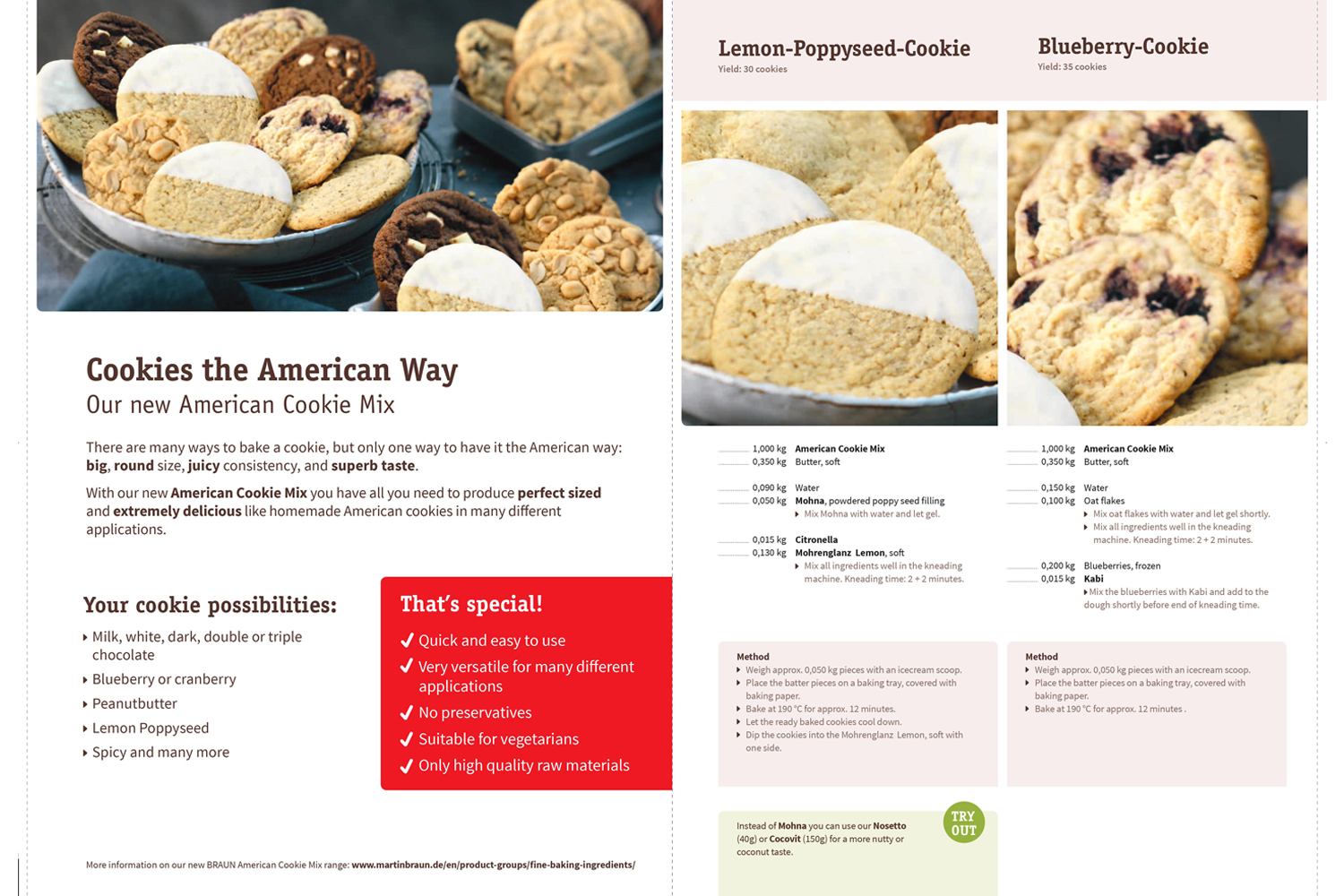 MB1456615985 - Martin Braun American Cookies Mix Ready to Use Pre-Mix 1kg