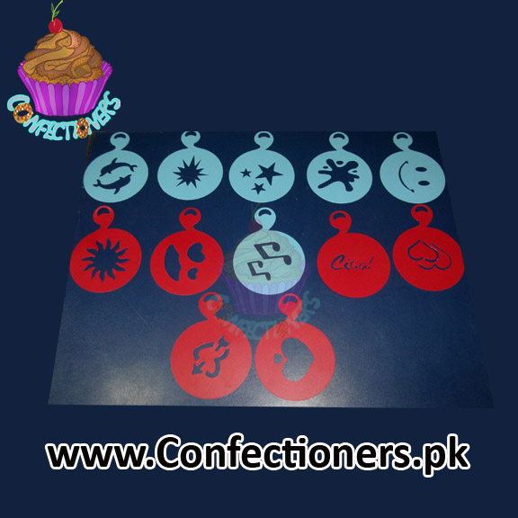 Cup Cake / Coffee Stencils Pack (12 Pcs)