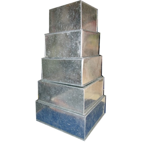 Double Height Square Cake pan 6 x 6 inch