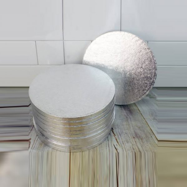 Drum Cake Boards Silver 12mm 20cm 8 inch Pack of 6