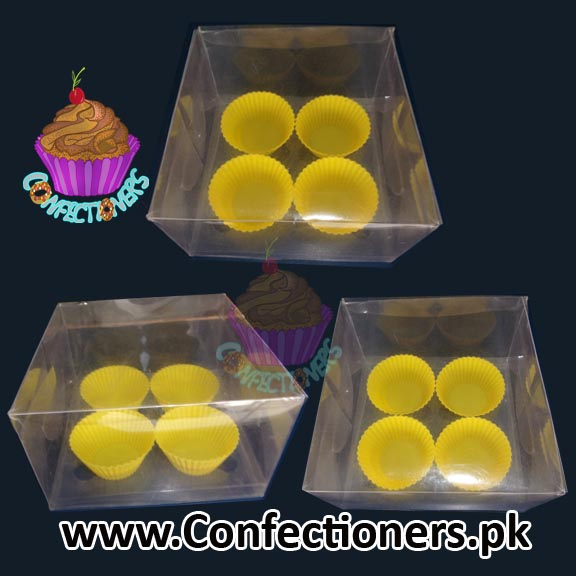 Four Serving Transparent Cupcake Box
