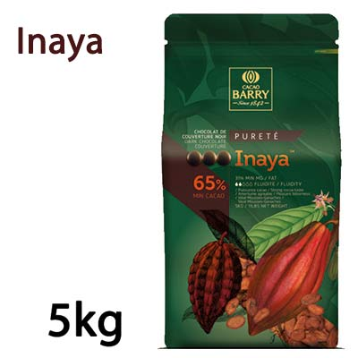 S65INY5000 - 65% Inaya Cacao Barry Dark Chocolate Callets 5kg