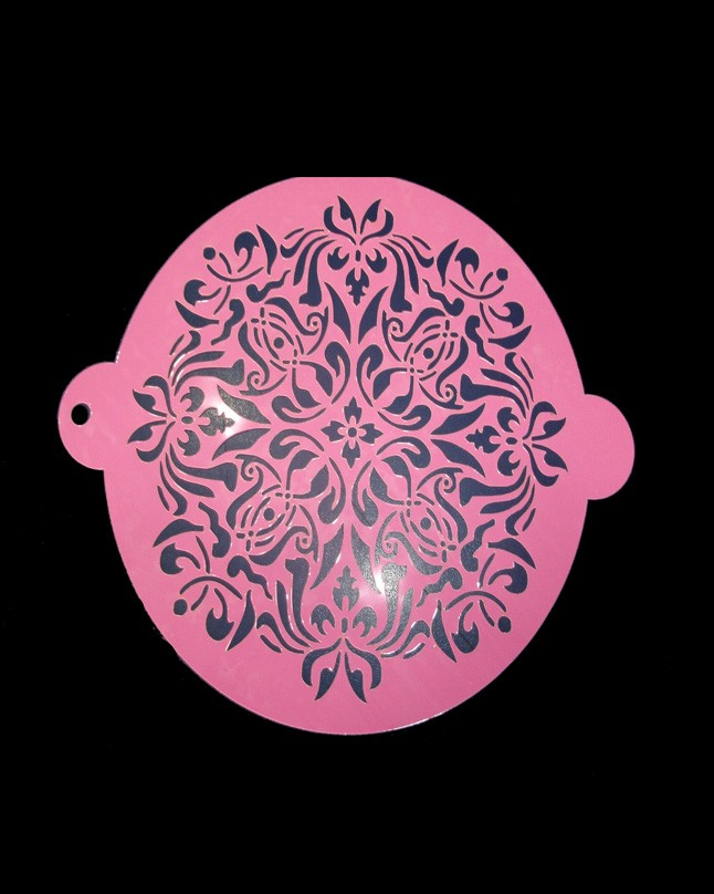 "Magic Pattern Cake Stencil 6"" Inch"