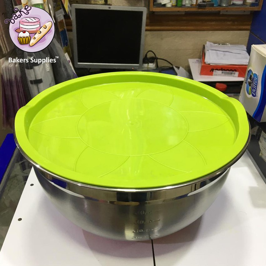 BT0084 - Stainless Steel Mixing Bowl With Lids 5.0 Litre