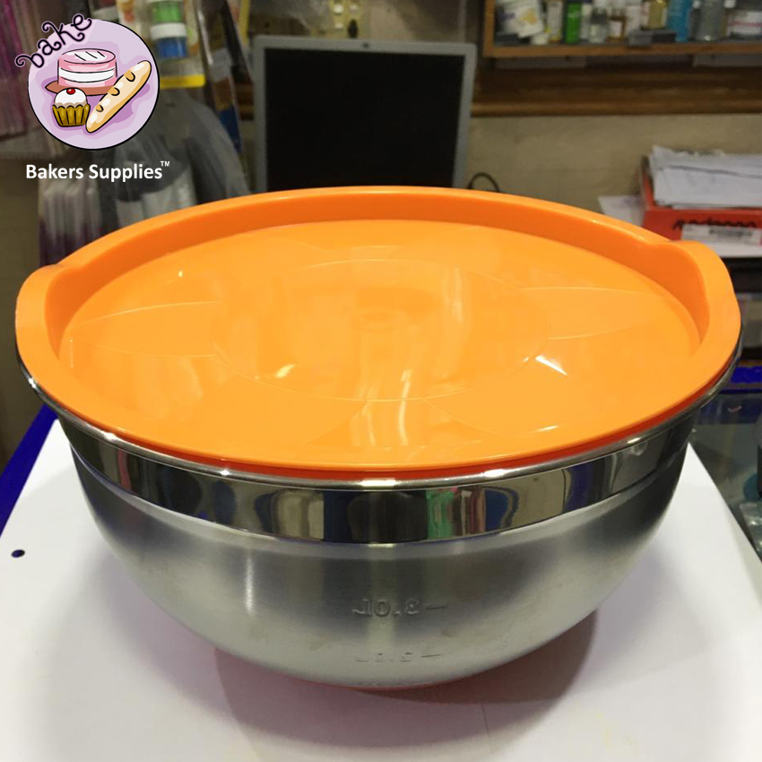 BT0083 - Stainless Steel Mixing Bowl With Lids 3.0 Litre