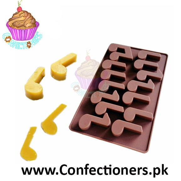 Silicon Music Note Chocolate Mold