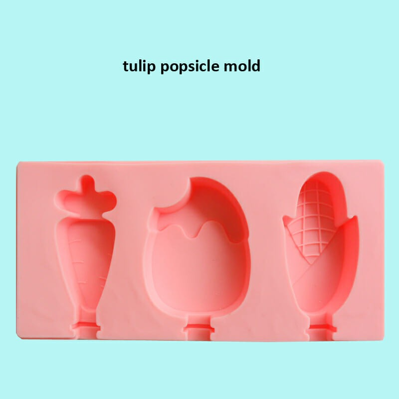 SM357 - Silicon Tulip Ice Cakesicles Popsicles Mold 3 Cavity