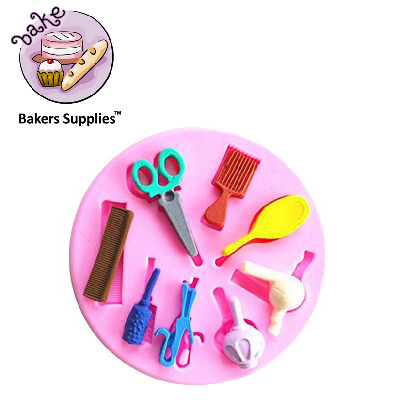 SM287 - Silicon Makeup Accessories Fondant Mold