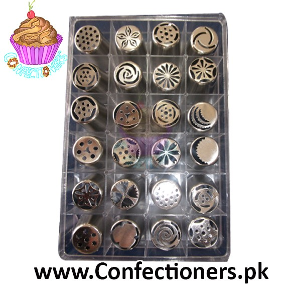 IN0025 Small Russian Icing Nozzle Set 24 piece