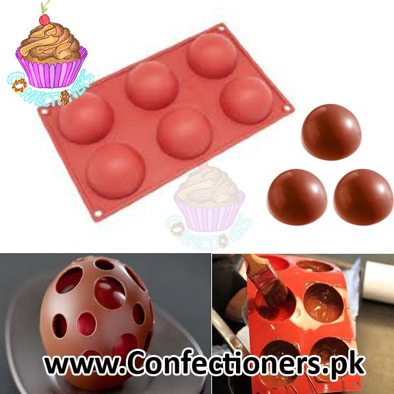 SM-88 Silicone Sphere Mold Tray 6 Cavity