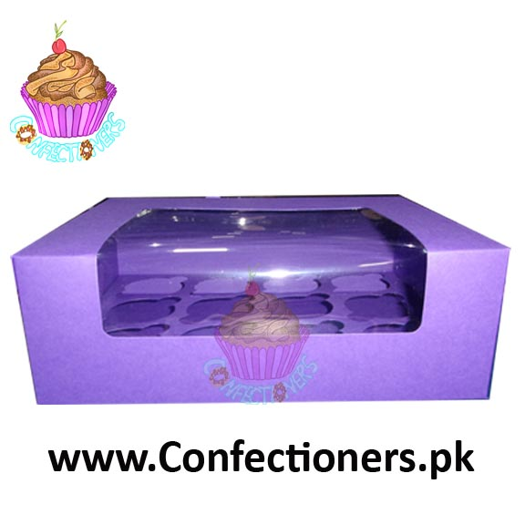 Twelve Serving Purple Cupcake Box