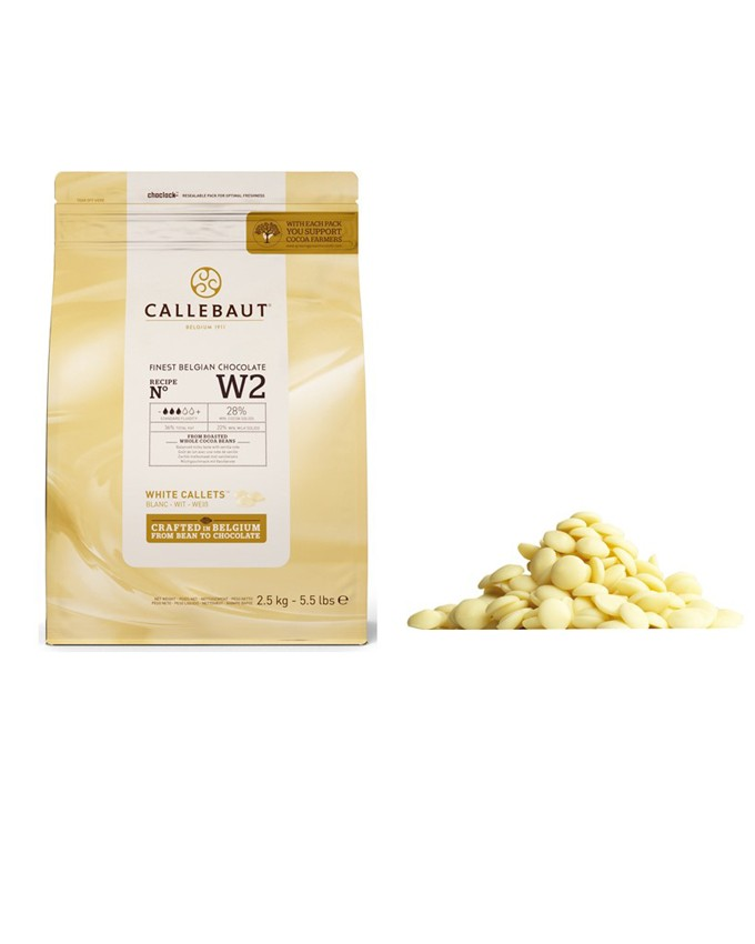 W2 WHITE CHOCOLATE CALLETS 2.5KG