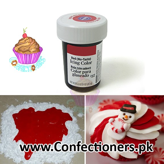 WT610329 - Wilton RED NO TASTE ICING COLOR