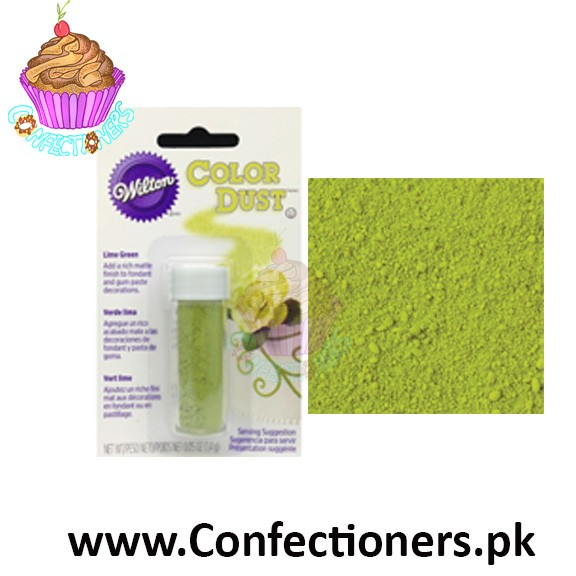 WT703-110 - WILTON LIME GREEN COLOR DUST