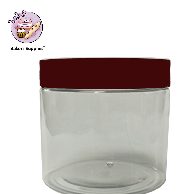 PET1010 - Brown Lid Plastic Jar Big 100 x 100mm