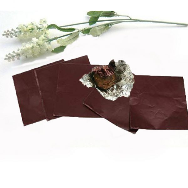 BT0052 - BROWN SILVER CHOCOLATE WRAPPING FOIL 100 PCS