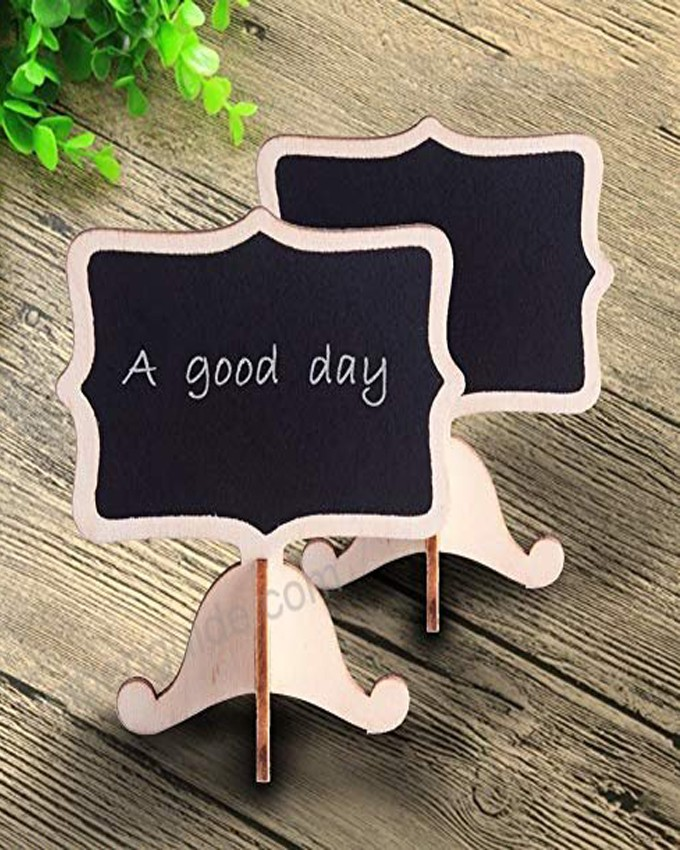 CHALK MESSAGE BOARD STAND 6 PIECES SET