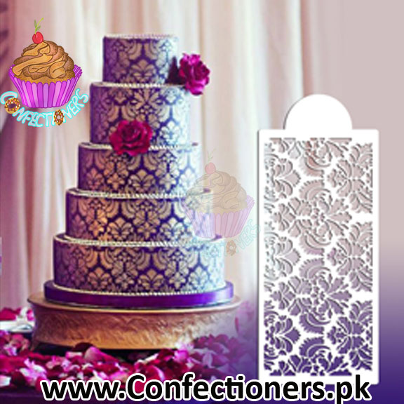 ST-354 - Damask Cake Stencil Medium