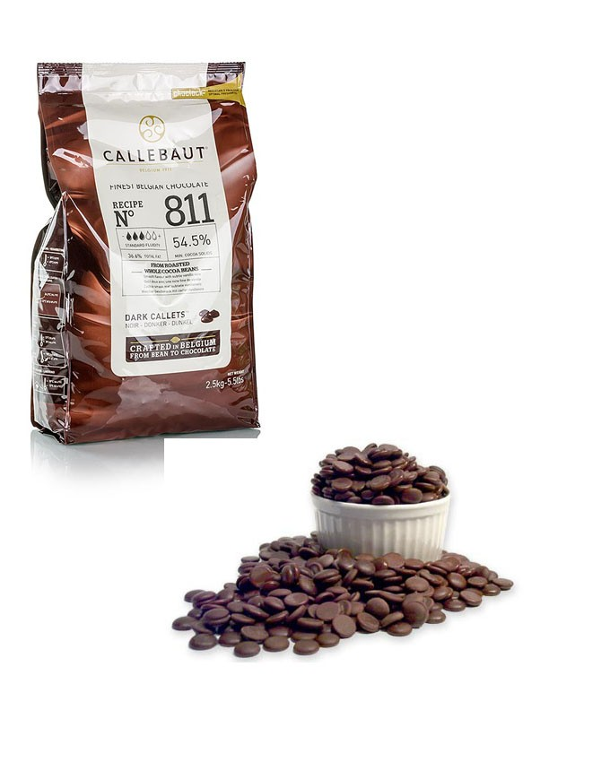 8111000 - 54% Dark Chocolate Callets (lose Packed) 1 kg