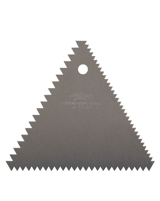 Triangle Metal Icing Comb