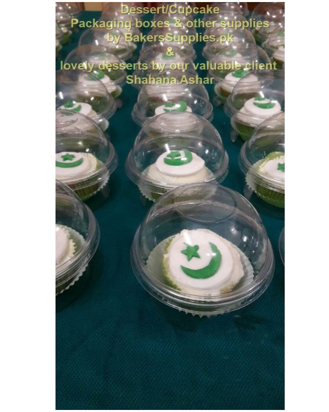 BT0055 - Dome Lid Cupcake Serving Cups 50pcs Pack