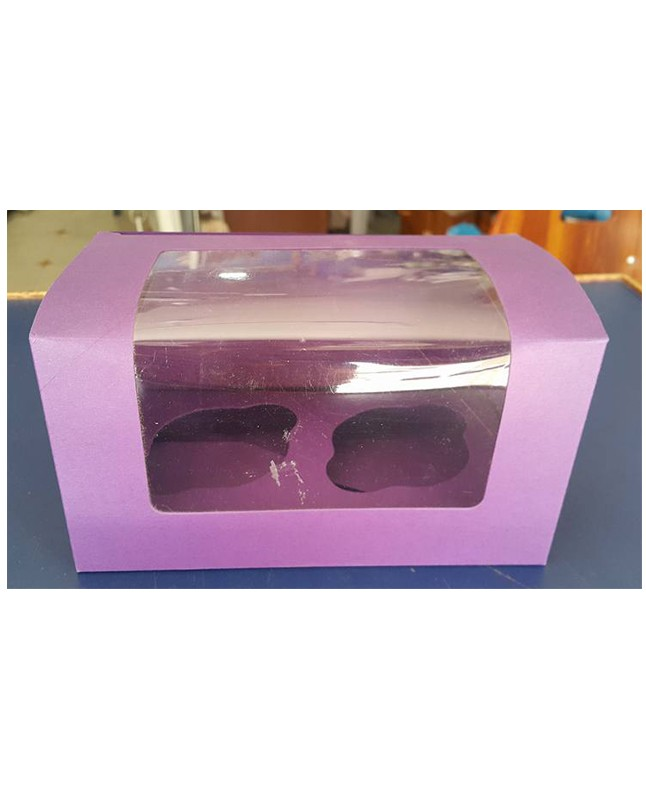Double Serving Purple Cupcake Box
