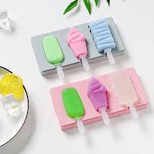 SM356 - Silicon Ice cream Cakesicles Popsicles Mold 3 Cavity