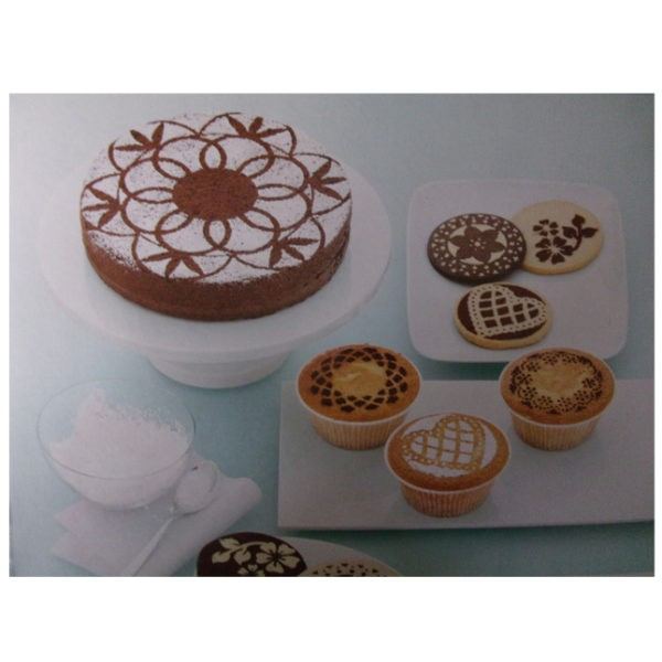 Floral dust stencil set of 8 pieces