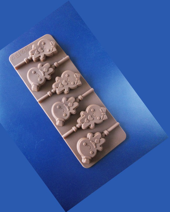 Silicon Chocolate Ginger Bread Man Lolly Pop Mold