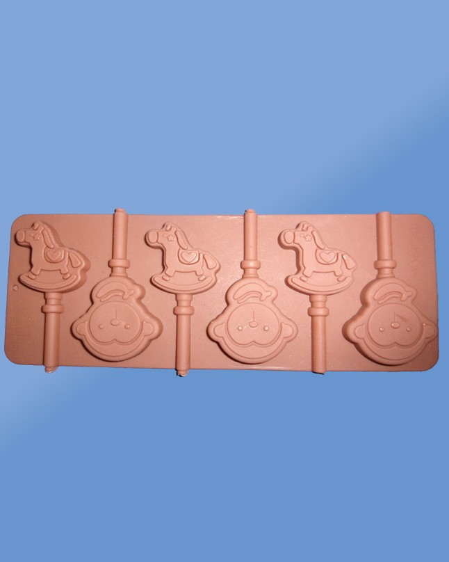 Silicon Chocolate Baby Horse Lolly Pop Mold