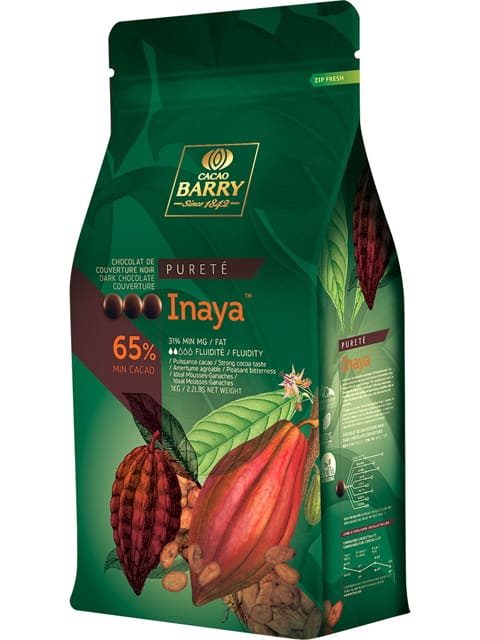 S65INY1000 - 65% Inaya Cacao Barry Dark Chocolate Callets 1kg (Loose pack)
