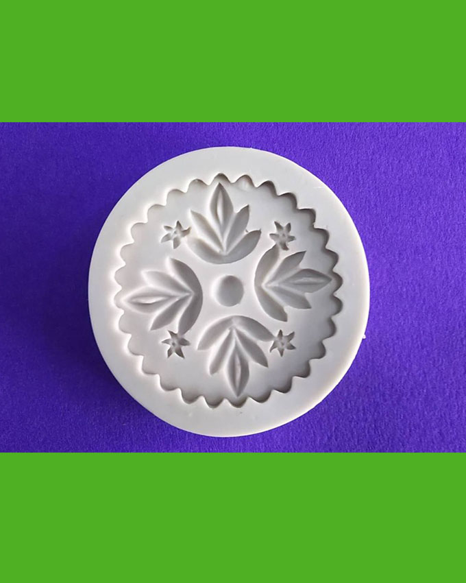 Silicon Flower Stamp fondant Mold Size 6.5cm
