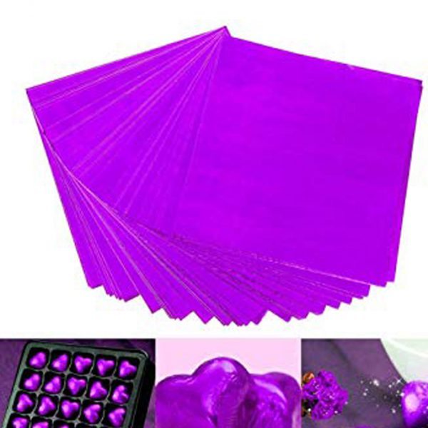 FT0049 - PURPLE SILVER CHOCOLATE WRAPPING FOIL 100 PCS