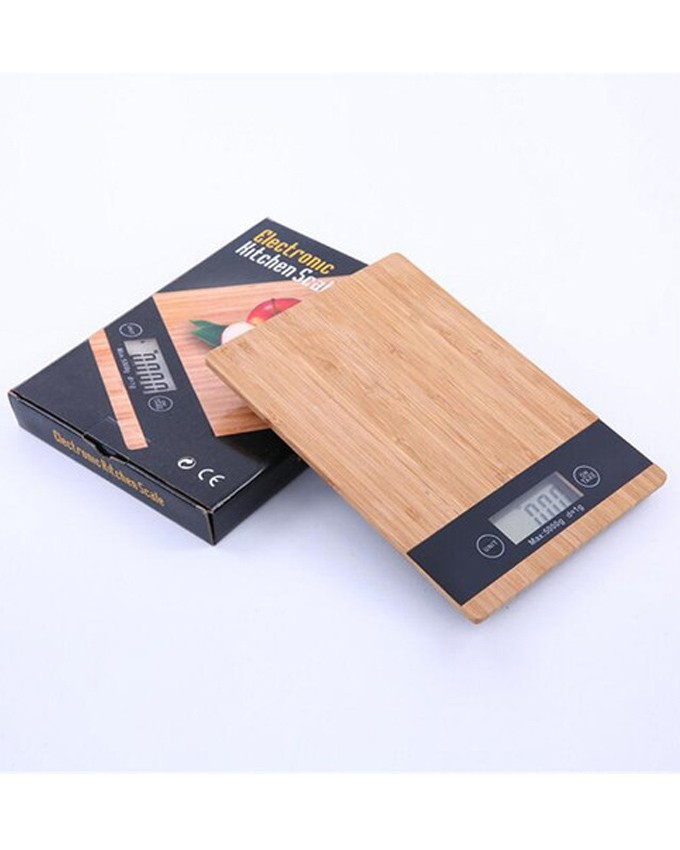 RECTANGLE WOOD ELECTRONIC KITCHEN WEIGHING SCALE