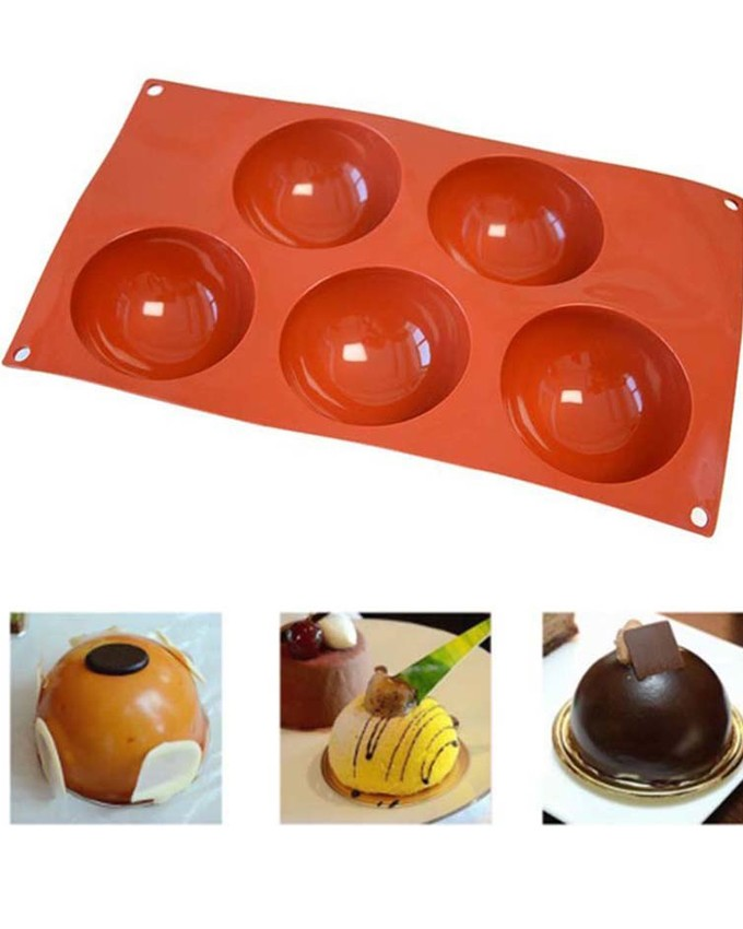 5 Cavity Silicon Sphere Tray