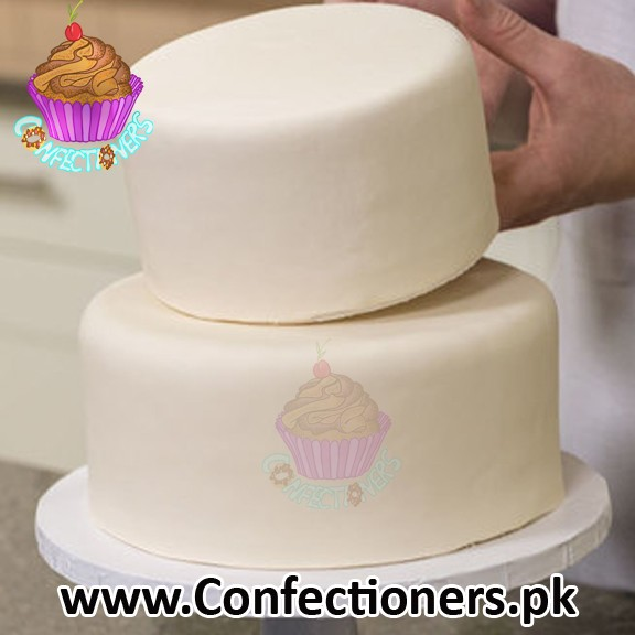 SATIN ICE WHITE VANILLA FONDANT READY TO USE ROLLED 1 KG LOOSED PACK FROM 10 KG