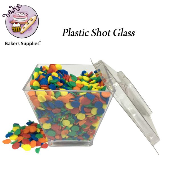 SG5121 - 58CL GD6045 Plastic Shot Glass 50 Pieces Pack