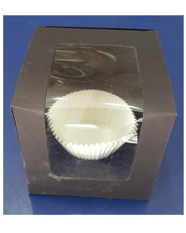 Single Serving Black Cupcake Box