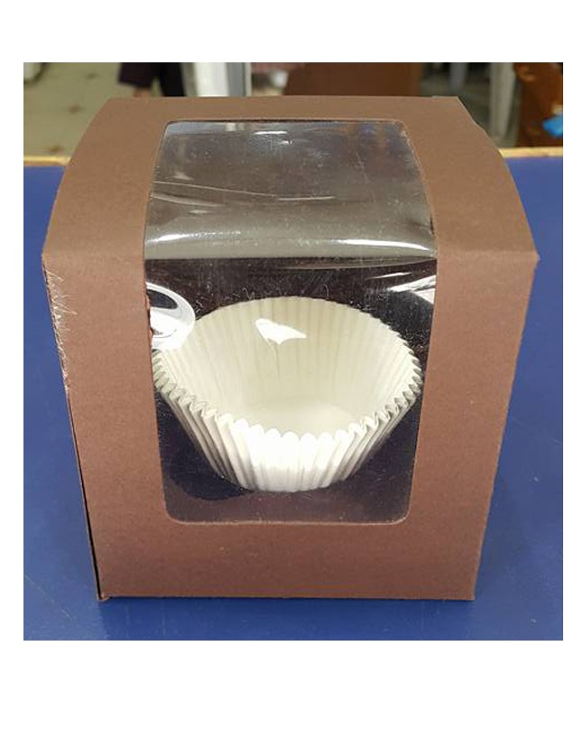 Single serving Brown Cupcake Box